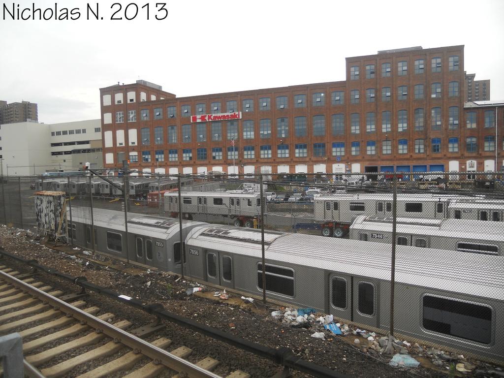(394k, 1024x768)<br><b>System:</b> New York City Transit<br><b>Location:</b> Kawasaki Plant, Yonkers, NY<br><b>Car:</b> R-188 (Kawasaki, 2012-) 7849 etc <br><b>Photo by:</b> Nicholas Noel<br><b>Date:</b> 8/2013<br><b>Viewed (this week/total):</b> 0 / 805