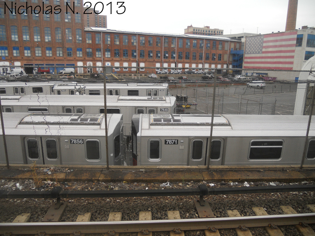 (452k, 1024x768)<br><b>System:</b> New York City Transit<br><b>Location:</b> Kawasaki Plant, Yonkers, NY<br><b>Car:</b> R-188 (Kawasaki, 2012-) 7856-7871 <br><b>Photo by:</b> Nicholas Noel<br><b>Date:</b> 8/2013<br><b>Viewed (this week/total):</b> 2 / 799