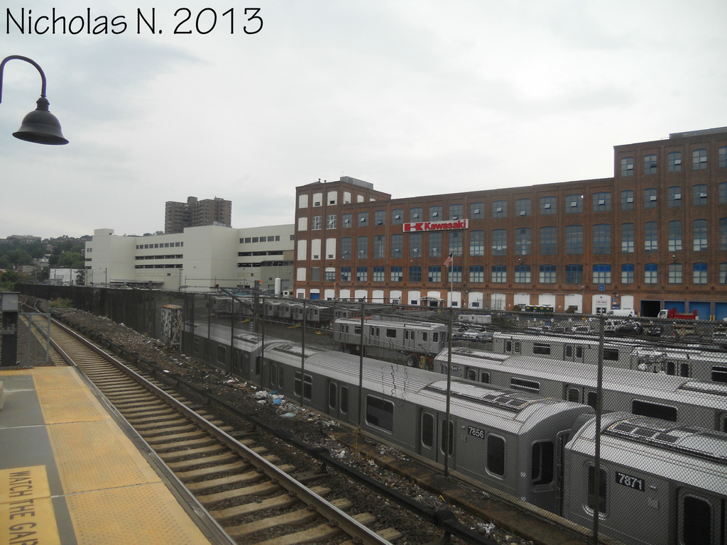 (319k, 1024x768)<br><b>System:</b> New York City Transit<br><b>Location:</b> Kawasaki Plant, Yonkers, NY<br><b>Car:</b> R-188 (Kawasaki, 2012-) 7856 <br><b>Photo by:</b> Nicholas Noel<br><b>Date:</b> 8/2013<br><b>Viewed (this week/total):</b> 0 / 826