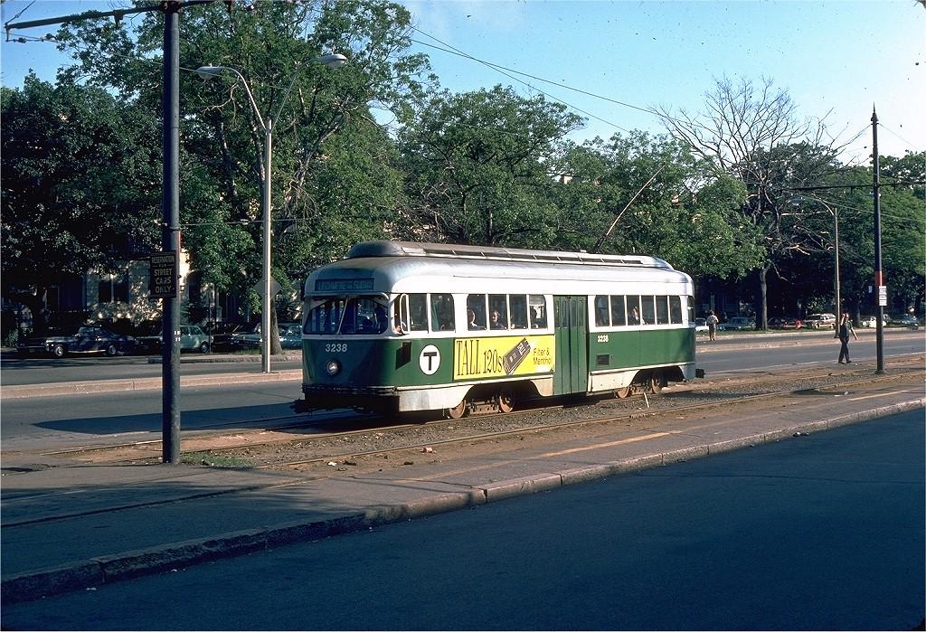 (309k, 1024x699)<br><b>Country:</b> United States<br><b>City:</b> Boston, MA<br><b>System:</b> MBTA<br><b>Line:</b> MBTA Green (B)<br><b>Location:</b> Commonwealth & Brighton/Packard's Corner <br><b>Car:</b> MBTA/BSRy PCC Wartime (Pullman-Standard, 1945-46)  3238 <br><b>Photo by:</b> Dave Oroszi<br><b>Collection of:</b> Joe Testagrose<br><b>Date:</b> 6/20/1976<br><b>Viewed (this week/total):</b> 1 / 1596