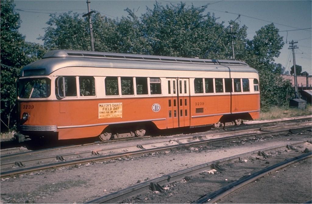 (209k, 1024x671)<br><b>Country:</b> United States<br><b>City:</b> Boston, MA<br><b>System:</b> MBTA<br><b>Line:</b> MBTA Green (B)<br><b>Location:</b> Boston College <br><b>Car:</b> MBTA/BSRy PCC Wartime (Pullman-Standard, 1945-46)  3239 <br><b>Collection of:</b> Joe Testagrose<br><b>Date:</b> 6/14/1958<br><b>Viewed (this week/total):</b> 0 / 1552