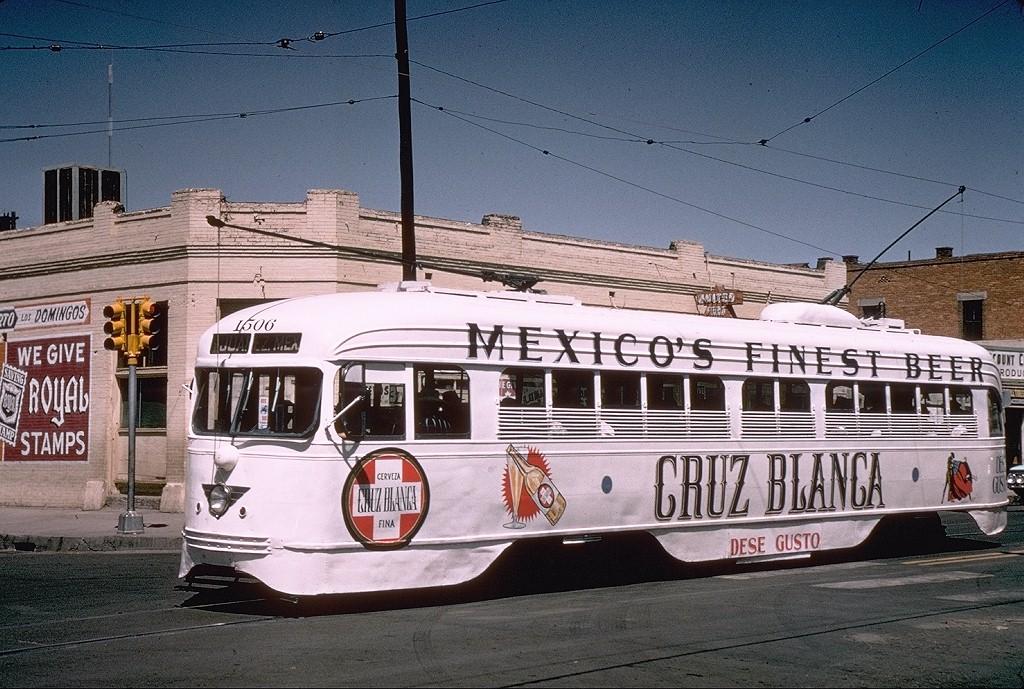 (251k, 1024x689)<br><b>Country:</b> United States<br><b>City:</b> El Paso, TX<br><b>System:</b> El Paso City Lines<br><b>Location:</b> Stanton & 7th<br><b>Car:</b> PCC 1506 <br><b>Collection of:</b> Joe Testagrose<br><b>Date:</b> 5/6/1965<br><b>Viewed (this week/total):</b> 0 / 3066