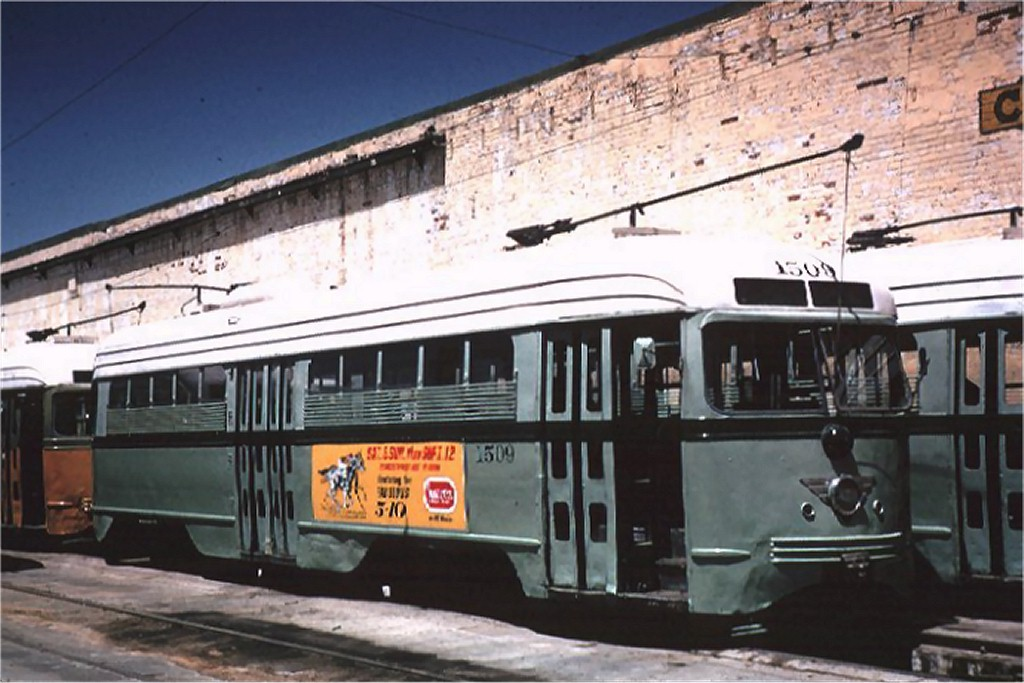 (165k, 1024x683)<br><b>Country:</b> United States<br><b>City:</b> El Paso, TX<br><b>System:</b> El Paso City Lines<br><b>Location:</b> Car Barn <br><b>Car:</b> PCC 1509 <br><b>Collection of:</b> Joe Testagrose<br><b>Date:</b> 5/6/1965<br><b>Viewed (this week/total):</b> 0 / 2477