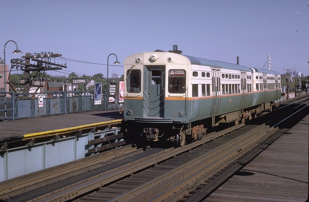 (228k, 1024x672)<br><b>Country:</b> United States<br><b>City:</b> Chicago, IL<br><b>System:</b> Chicago Transit Authority <br><b>Line:</b> CTA Blue (Forest Park-Dearborn-O'Hare)<br><b>Location:</b> California <br><b>Route:</b> Congress/Milwaukee<br><b>Car:</b> CTA 6000 Series 6573 <br><b>Photo by:</b> Joe Testagrose<br><b>Date:</b> 8/16/1970<br><b>Viewed (this week/total):</b> 0 / 3111