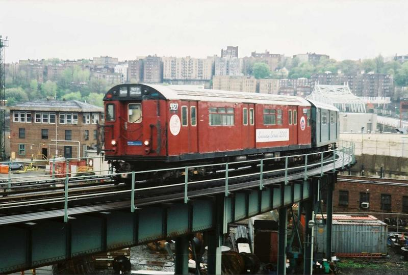 (70k, 800x540)<br><b>Country:</b> United States<br><b>City:</b> New York<br><b>System:</b> New York City Transit<br><b>Location:</b> 207th Street Yard<br><b>Route:</b> Fan Trip<br><b>Car:</b> R-33 World's Fair (St. Louis, 1963-64) 9327 <br><b>Photo by:</b> Gary Chatterton<br><b>Date:</b> 5/1/2005<br><b>Viewed (this week/total):</b> 0 / 3110