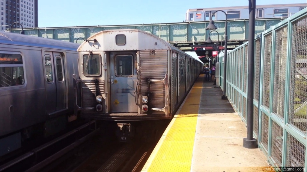 (192k, 1024x575)<br><b>Country:</b> United States<br><b>City:</b> New York<br><b>System:</b> New York City Transit<br><b>Line:</b> BMT Canarsie Line<br><b>Location:</b> Livonia Avenue <br><b>Car:</b> R-32 (Budd, 1964)   <br><b>Photo by:</b> Mr. Railfan <br><b>Date:</b> 10/23/2012<br><b>Viewed (this week/total):</b> 5 / 1157