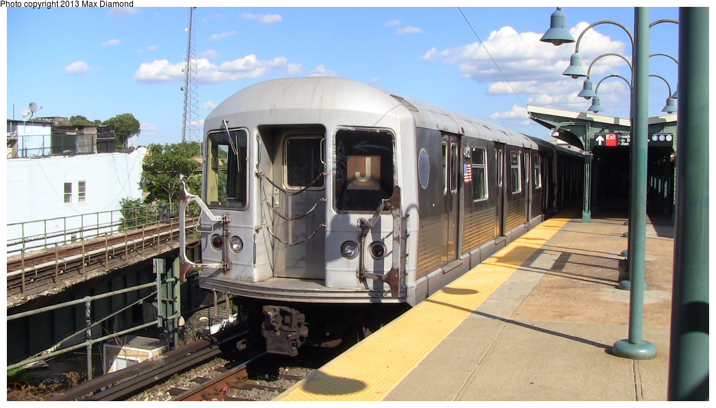 (289k, 1044x596)<br><b>Country:</b> United States<br><b>City:</b> New York<br><b>System:</b> New York City Transit<br><b>Line:</b> BMT Nassau Street/Jamaica Line<br><b>Location:</b> Broadway/East New York (Broadway Junction) <br><b>Route:</b> J<br><b>Car:</b> R-42 (St. Louis, 1969-1970)  4812 <br><b>Photo by:</b> Max Diamond<br><b>Date:</b> 8/4/2013<br><b>Viewed (this week/total):</b> 0 / 763