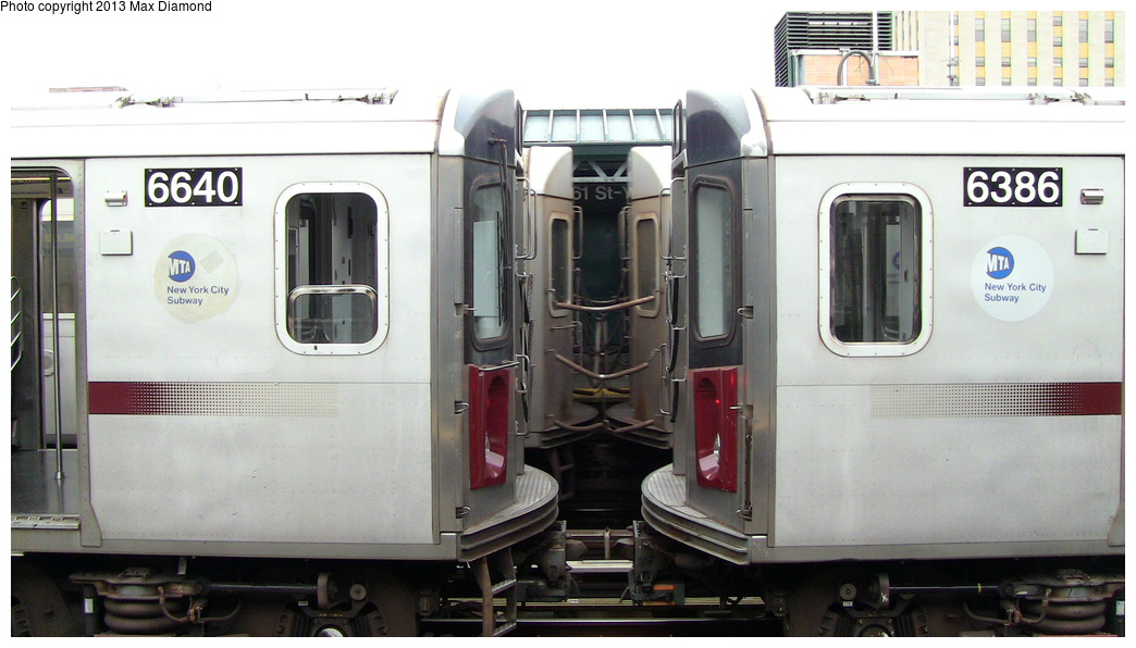 (231k, 1044x596)<br><b>Country:</b> United States<br><b>City:</b> New York<br><b>System:</b> New York City Transit<br><b>Line:</b> IRT Woodlawn Line<br><b>Location:</b> 161st Street/River Avenue (Yankee Stadium) <br><b>Route:</b> Layup<br><b>Car:</b> R-142 (Primary Order, Bombardier, 1999-2002)  6624 <br><b>Photo by:</b> Max Diamond<br><b>Date:</b> 7/25/2013<br><b>Viewed (this week/total):</b> 0 / 1562