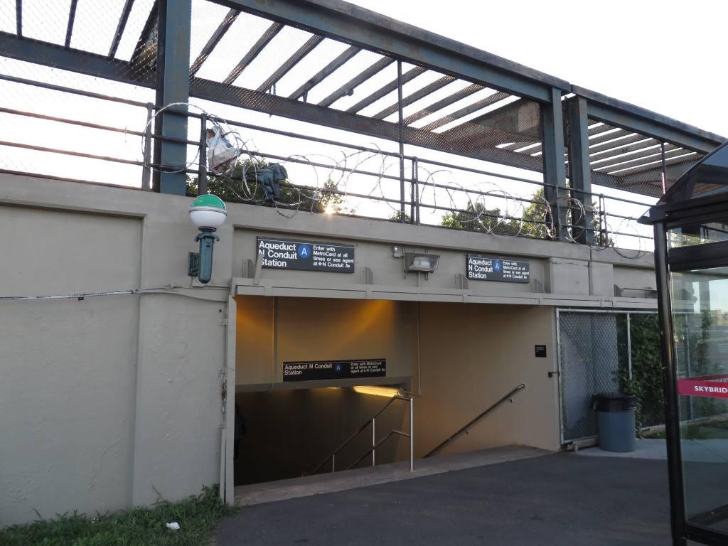 (113k, 1024x768)<br><b>Country:</b> United States<br><b>City:</b> New York<br><b>System:</b> New York City Transit<br><b>Line:</b> IND Rockaway<br><b>Location:</b> Aqueduct/North Conduit Avenue <br><b>Photo by:</b> Robbie Rosenfeld<br><b>Date:</b> 8/14/2013<br><b>Notes:</b> Underpass<br><b>Viewed (this week/total):</b> 0 / 1460