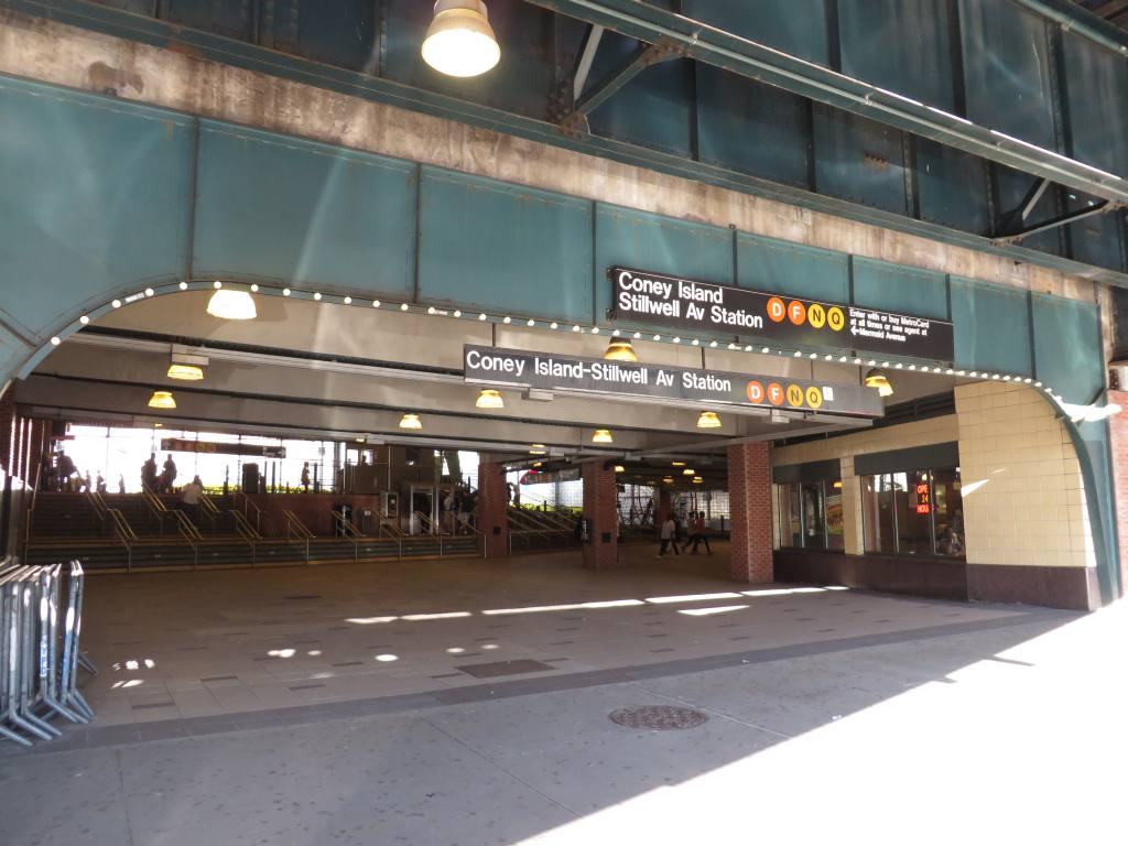 (106k, 1024x768)<br><b>Country:</b> United States<br><b>City:</b> New York<br><b>System:</b> New York City Transit<br><b>Location:</b> Coney Island/Stillwell Avenue<br><b>Photo by:</b> Robbie Rosenfeld<br><b>Date:</b> 6/12/2013<br><b>Notes:</b> Station entrance<br><b>Viewed (this week/total):</b> 0 / 1163