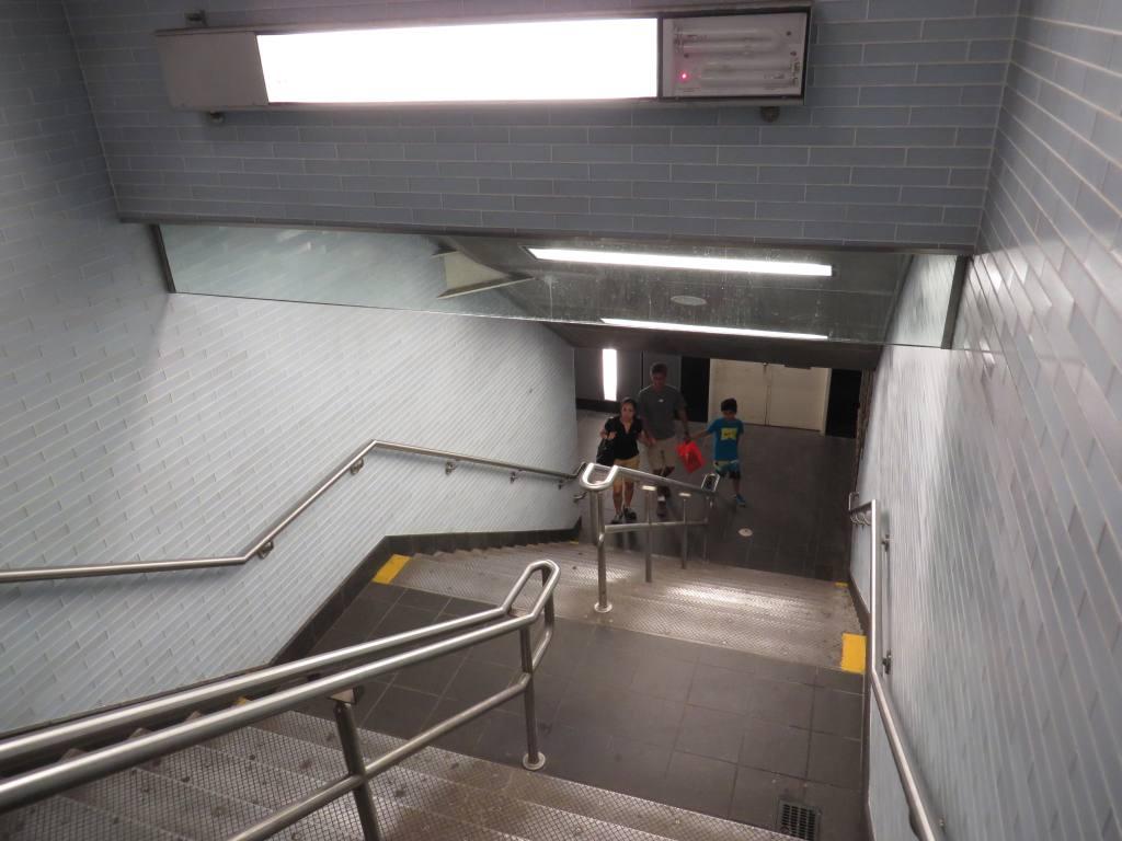 (95k, 1024x768)<br><b>Country:</b> United States<br><b>City:</b> New York<br><b>System:</b> New York City Transit<br><b>Line:</b> BMT Broadway Line<br><b>Location:</b> Cortlandt Street-World Trade Center <br><b>Photo by:</b> Robbie Rosenfeld<br><b>Date:</b> 8/5/2013<br><b>Notes:</b> Underpass<br><b>Viewed (this week/total):</b> 0 / 715