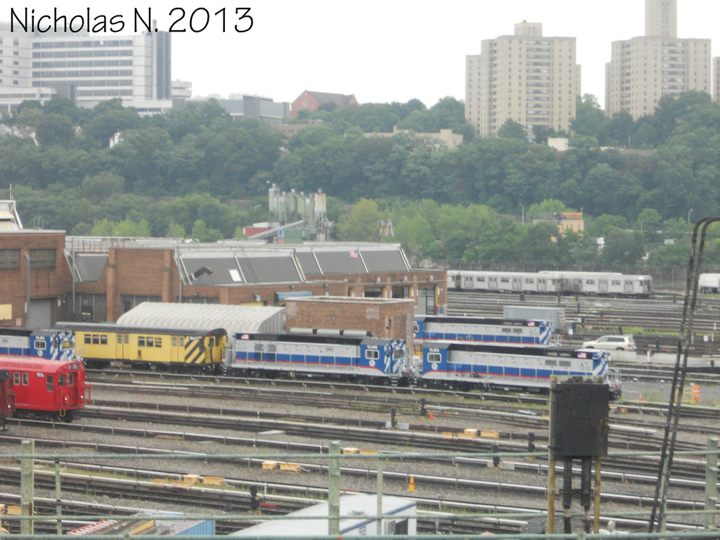 (343k, 1024x768)<br><b>Country:</b> United States<br><b>City:</b> New York<br><b>System:</b> New York City Transit<br><b>Location:</b> 207th Street Yard<br><b>Car:</b> R-156 Diesel-Electric Locomotive (MPI, 2012-2013) 923, 926, and 2 more <br><b>Photo by:</b> Nicholas Noel<br><b>Date:</b> 8/3/2013<br><b>Viewed (this week/total):</b> 2 / 1048