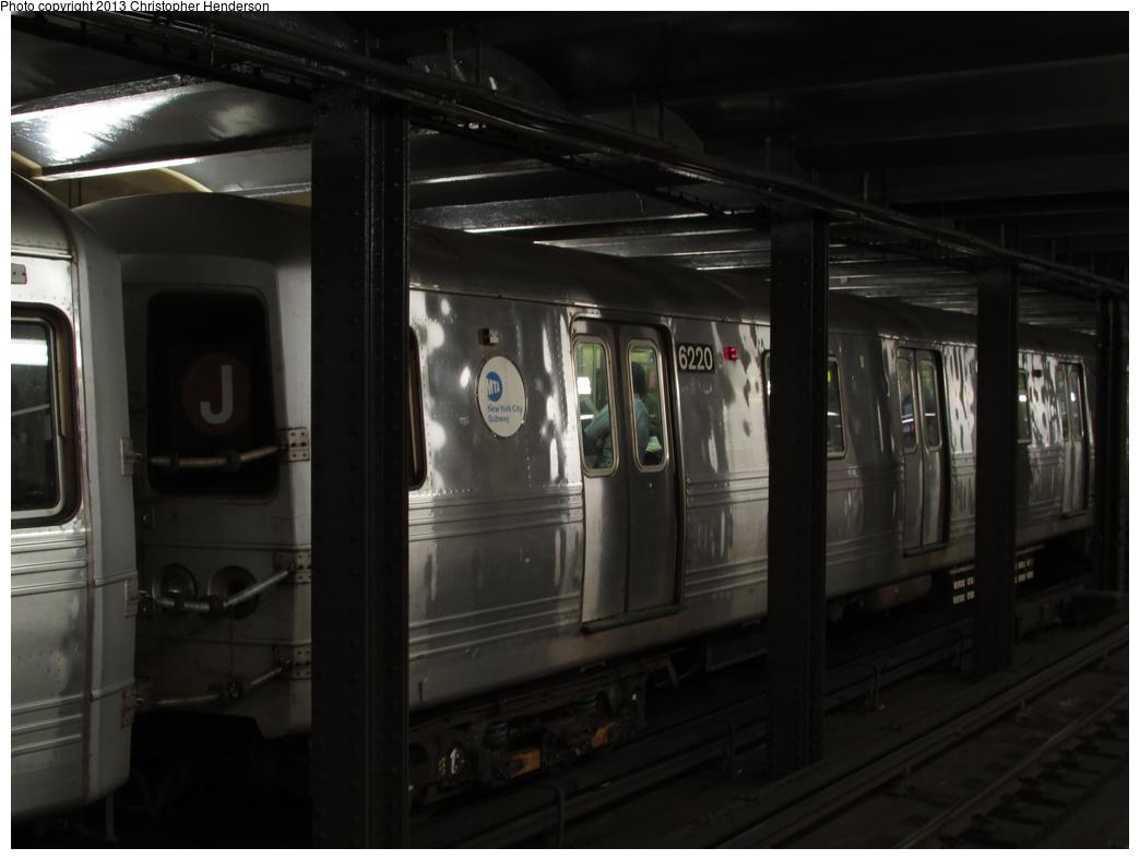 (210k, 1044x788)<br><b>Country:</b> United States<br><b>City:</b> New York<br><b>System:</b> New York City Transit<br><b>Line:</b> IND 8th Avenue Line<br><b>Location:</b> 14th Street <br><b>Route:</b> A<br><b>Car:</b> R-32 (Budd, 1964)  6220 <br><b>Photo by:</b> Christopher Henderson<br><b>Date:</b> 10/15/2013<br><b>Viewed (this week/total):</b> 1 / 1515