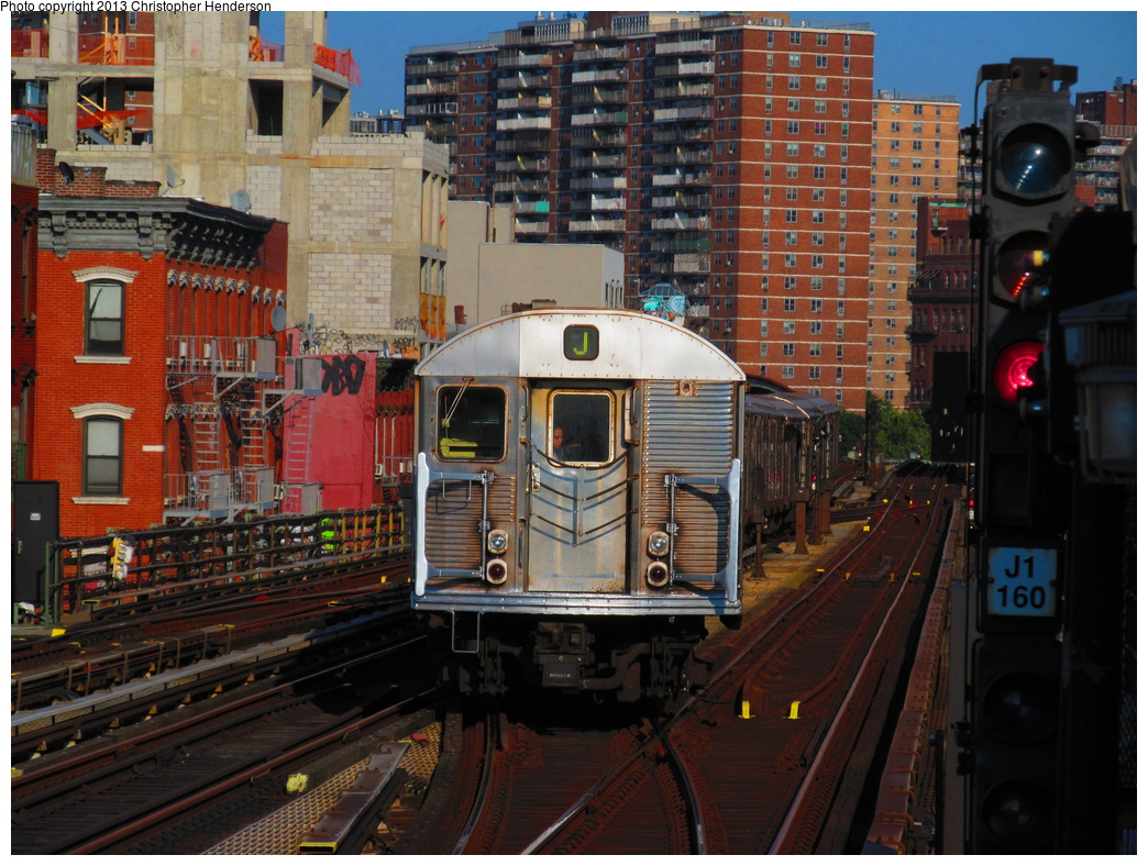 (387k, 1044x788)<br><b>Country:</b> United States<br><b>City:</b> New York<br><b>System:</b> New York City Transit<br><b>Line:</b> BMT Nassau Street/Jamaica Line<br><b>Location:</b> Marcy Avenue <br><b>Route:</b> J<br><b>Car:</b> R-32 (Budd, 1964)  3891 <br><b>Photo by:</b> Christopher Henderson<br><b>Date:</b> 7/16/2013<br><b>Viewed (this week/total):</b> 3 / 1370