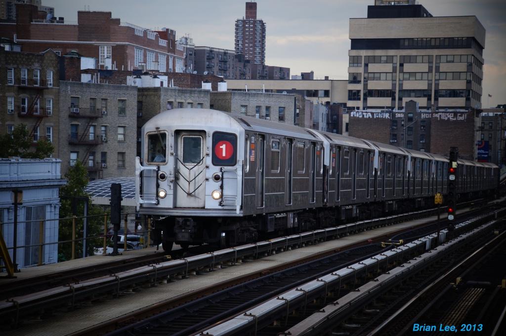 (294k, 1024x680)<br><b>Country:</b> United States<br><b>City:</b> New York<br><b>System:</b> New York City Transit<br><b>Line:</b> IRT West Side Line<br><b>Location:</b> 207th Street <br><b>Route:</b> 1<br><b>Car:</b> R-62 (Kawasaki, 1983-1985)  1310 <br><b>Photo by:</b> Brian Lee<br><b>Date:</b> 8/3/2013<br><b>Viewed (this week/total):</b> 0 / 1000