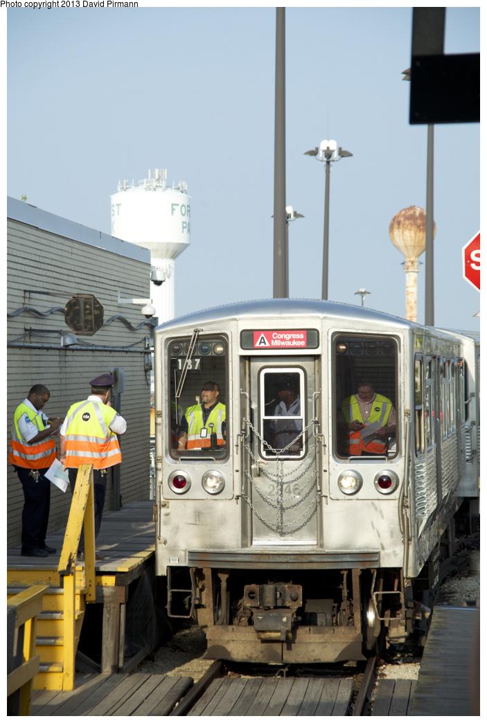 (287k, 703x1044)<br><b>Country:</b> United States<br><b>City:</b> Chicago, IL<br><b>System:</b> Chicago Transit Authority <br><b>Line:</b> CTA Green (Lake/South Side)<br><b>Location:</b> Oak Park <br><b>Route:</b> Fan Trip<br><b>Car:</b> CTA 2200 Series 2346 <br><b>Photo by:</b> David Pirmann<br><b>Date:</b> 8/25/2013<br><b>Viewed (this week/total):</b> 2 / 773