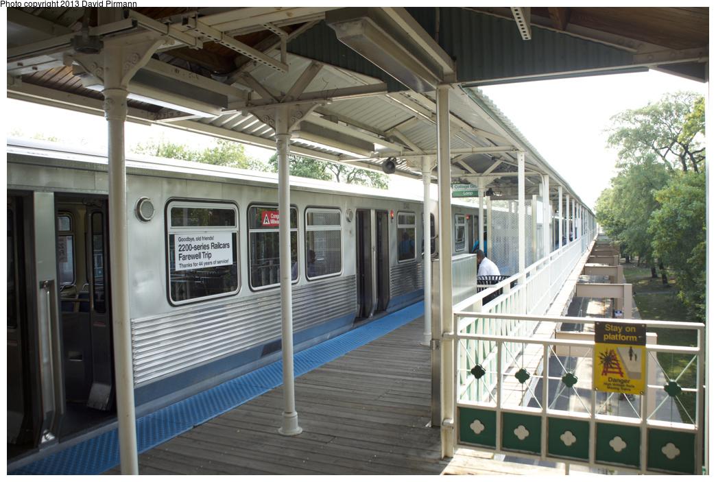 (346k, 1044x703)<br><b>Country:</b> United States<br><b>City:</b> Chicago, IL<br><b>System:</b> Chicago Transit Authority <br><b>Line:</b> CTA Green (Lake/South Side)<br><b>Location:</b> Conservatory/Central Park Drive <br><b>Route:</b> Fan Trip<br><b>Car:</b> CTA 2200 Series 2340 <br><b>Photo by:</b> David Pirmann<br><b>Date:</b> 8/25/2013<br><b>Viewed (this week/total):</b> 0 / 590