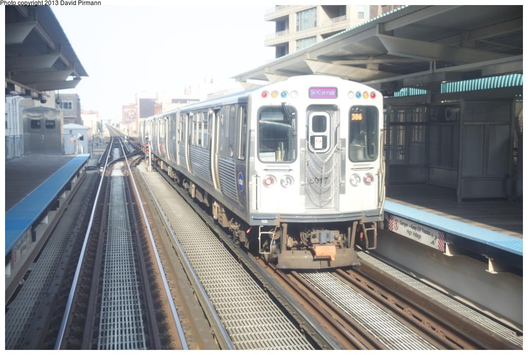 (305k, 1044x703)<br><b>Country:</b> United States<br><b>City:</b> Chicago, IL<br><b>System:</b> Chicago Transit Authority <br><b>Line:</b> CTA Green (Lake/South Side)<br><b>Location:</b> Clinton <br><b>Route:</b> Pink<br><b>Car:</b> CTA 5000 Series 5017 <br><b>Photo by:</b> David Pirmann<br><b>Date:</b> 8/25/2013<br><b>Viewed (this week/total):</b> 1 / 450