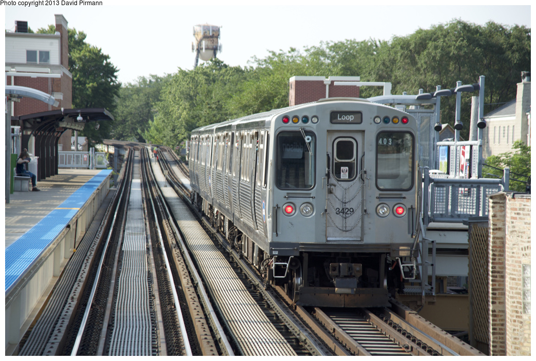 (385k, 1044x703)<br><b>Country:</b> United States<br><b>City:</b> Chicago, IL<br><b>System:</b> Chicago Transit Authority <br><b>Line:</b> CTA Brown (Ravenswood)<br><b>Location:</b> Addison <br><b>Route:</b> Brown<br><b>Car:</b> CTA 3200 Series 3429 <br><b>Photo by:</b> David Pirmann<br><b>Date:</b> 8/25/2013<br><b>Viewed (this week/total):</b> 0 / 621