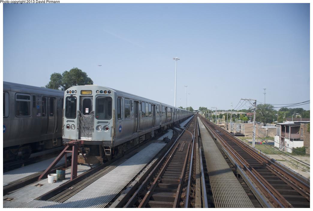 (271k, 1044x703)<br><b>Country:</b> United States<br><b>City:</b> Chicago, IL<br><b>System:</b> Chicago Transit Authority <br><b>Line:</b> CTA Green (Lake/South Side)<br><b>Location:</b> Racine Yard <br><b>Car:</b> CTA 2600 Series 2787 <br><b>Photo by:</b> David Pirmann<br><b>Date:</b> 8/25/2013<br><b>Viewed (this week/total):</b> 1 / 571
