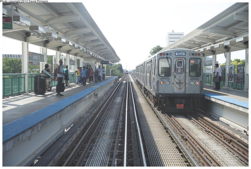 (309k, 1044x703)<br><b>Country:</b> United States<br><b>City:</b> Chicago, IL<br><b>System:</b> Chicago Transit Authority <br><b>Line:</b> CTA Green (Lake/South Side)<br><b>Location:</b> Garfield <br><b>Route:</b> Green<br><b>Car:</b> CTA 5000 Series 5080 <br><b>Photo by:</b> David Pirmann<br><b>Date:</b> 8/25/2013<br><b>Viewed (this week/total):</b> 0 / 611