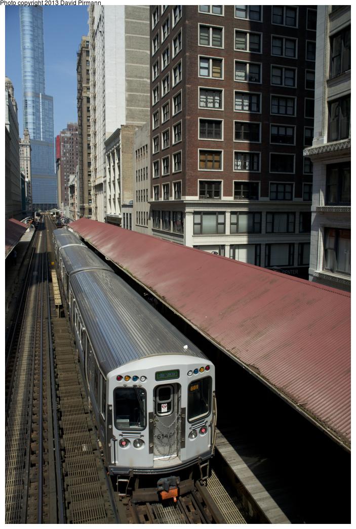 (364k, 703x1044)<br><b>Country:</b> United States<br><b>City:</b> Chicago, IL<br><b>System:</b> Chicago Transit Authority <br><b>Line:</b> CTA Loop<br><b>Location:</b> Madison/Wabash <br><b>Route:</b> Green<br><b>Car:</b> CTA 5000 Series 5147 <br><b>Photo by:</b> David Pirmann<br><b>Date:</b> 8/25/2013<br><b>Viewed (this week/total):</b> 1 / 438