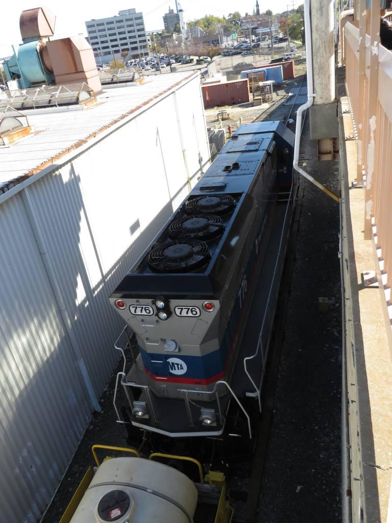 (130k, 768x1024)<br><b>Country:</b> United States<br><b>City:</b> New York<br><b>System:</b> New York City Transit<br><b>Line:</b> SIRT<br><b>Location:</b> Clifton Yard/Shops <br><b>Car:</b> SIRT Brookville BL-20G 776 <br><b>Photo by:</b> Robbie Rosenfeld<br><b>Date:</b> 10/15/2013<br><b>Viewed (this week/total):</b> 1 / 654