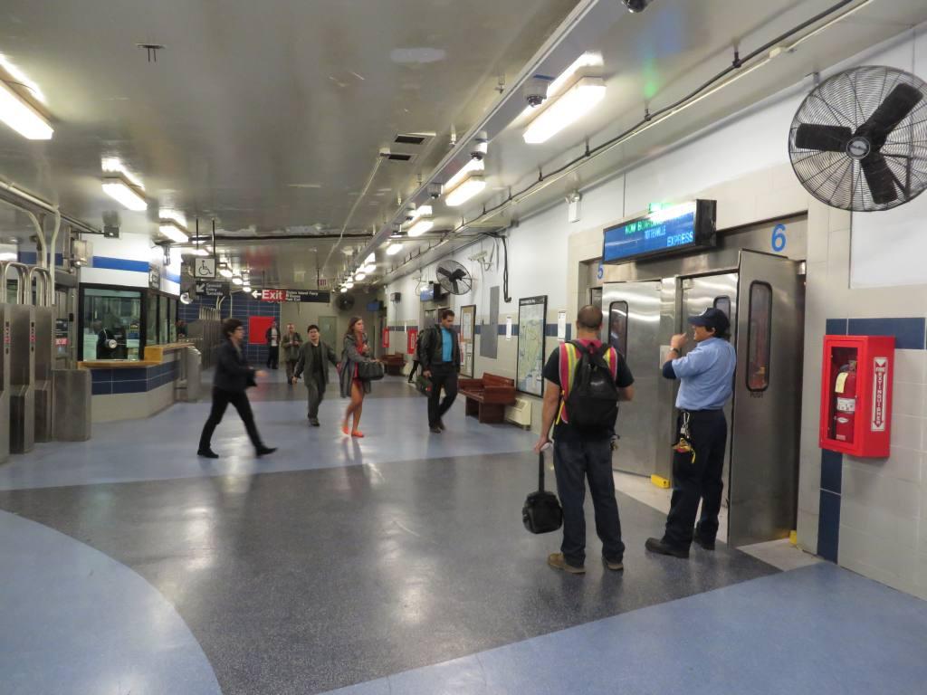 (101k, 1024x768)<br><b>Country:</b> United States<br><b>City:</b> New York<br><b>System:</b> New York City Transit<br><b>Line:</b> SIRT<br><b>Location:</b> St. George <br><b>Photo by:</b> Robbie Rosenfeld<br><b>Date:</b> 10/15/2013<br><b>Notes:</b> Boarding area<br><b>Viewed (this week/total):</b> 0 / 1173