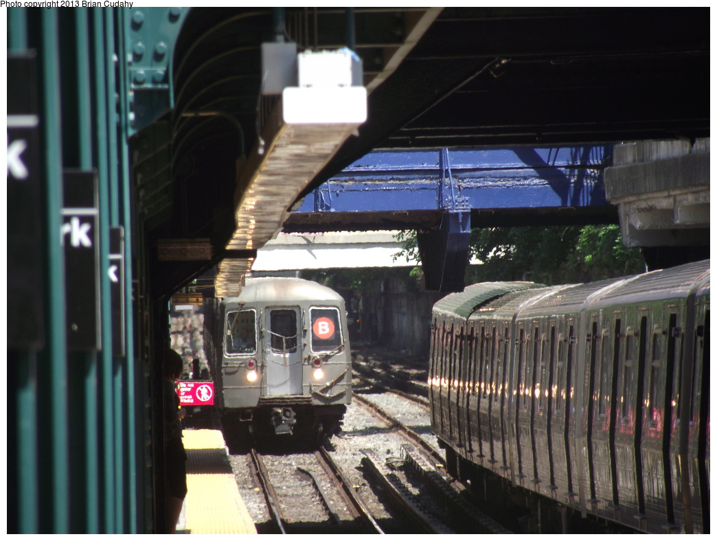 (292k, 1044x788)<br><b>Country:</b> United States<br><b>City:</b> New York<br><b>System:</b> New York City Transit<br><b>Line:</b> BMT Brighton Line<br><b>Location:</b> Newkirk Plaza (fmrly Newkirk Ave.) <br><b>Route:</b> Q<br><b>Car:</b> R-68/R-68A Series (Number Unknown)  <br><b>Photo by:</b> Brian J. Cudahy<br><b>Date:</b> 5/6/2012<br><b>Viewed (this week/total):</b> 0 / 1410