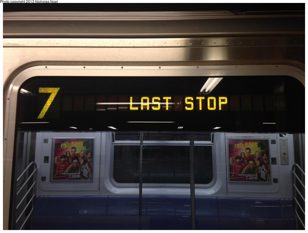 (202k, 1044x788)<br><b>Country:</b> United States<br><b>City:</b> New York<br><b>System:</b> New York City Transit<br><b>Route:</b> 7<br><b>Car:</b> R-188 (Kawasaki, 2012-) 7821 <br><b>Photo by:</b> Nicholas Noel<br><b>Date:</b> 12/1/2013<br><b>Viewed (this week/total):</b> 0 / 950