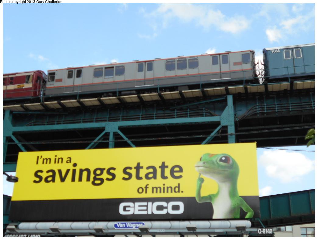 (275k, 1044x788)<br><b>Country:</b> United States<br><b>City:</b> New York<br><b>System:</b> New York City Transit<br><b>Line:</b> IRT Flushing Line<br><b>Location:</b> Queensborough Plaza <br><b>Route:</b> Museum Train Service<br><b>Car:</b> R-12 (American Car & Foundry, 1948) 5760 <br><b>Photo by:</b> Gary Chatterton<br><b>Date:</b> 7/14/2013<br><b>Viewed (this week/total):</b> 0 / 910