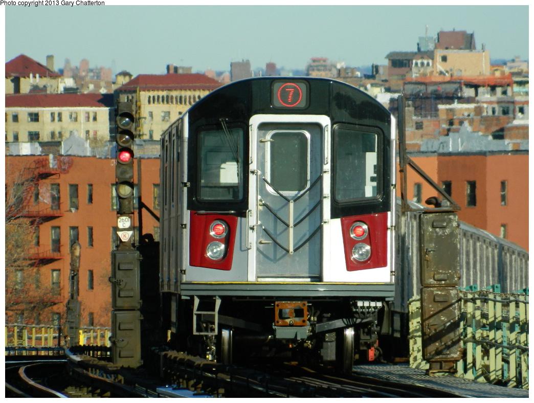(343k, 1044x788)<br><b>Country:</b> United States<br><b>City:</b> New York<br><b>System:</b> New York City Transit<br><b>Line:</b> IRT Flushing Line<br><b>Location:</b> 52nd Street/Lincoln Avenue <br><b>Route:</b> 7<br><b>Car:</b> R-188 (Kawasaki, 2012-) 7811 <br><b>Photo by:</b> Gary Chatterton<br><b>Date:</b> 11/20/2013<br><b>Viewed (this week/total):</b> 0 / 1730