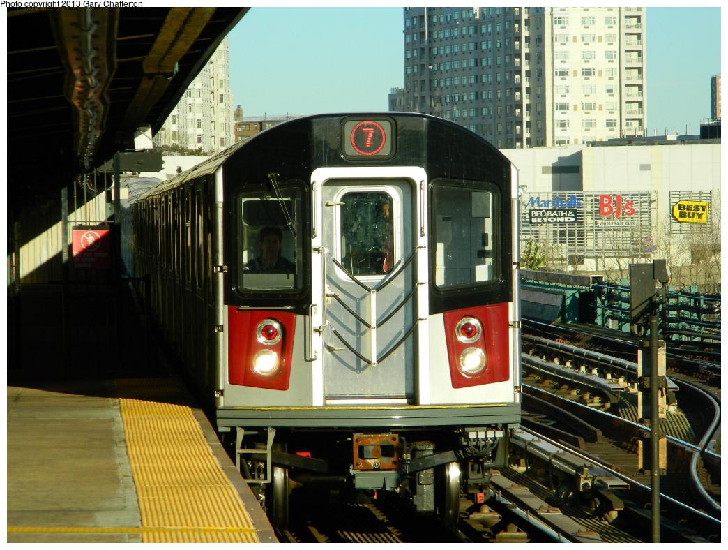 (379k, 1044x788)<br><b>Country:</b> United States<br><b>City:</b> New York<br><b>System:</b> New York City Transit<br><b>Line:</b> IRT Flushing Line<br><b>Location:</b> Willets Point/Mets (fmr. Shea Stadium) <br><b>Route:</b> 7<br><b>Car:</b> R-188 (Kawasaki, 2012-) 7811 <br><b>Photo by:</b> Gary Chatterton<br><b>Date:</b> 11/20/2013<br><b>Viewed (this week/total):</b> 6 / 1914