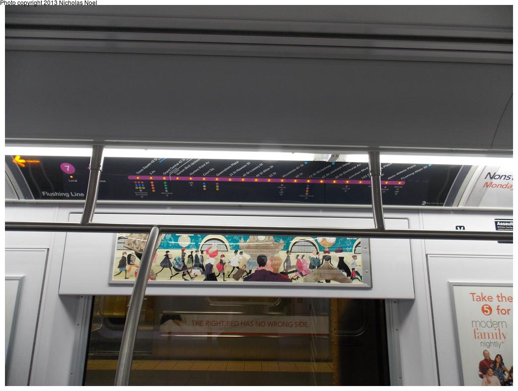 (304k, 1044x788)<br><b>Country:</b> United States<br><b>City:</b> New York<br><b>System:</b> New York City Transit<br><b>Route:</b> 7<br><b>Car:</b> R-188 (Kawasaki, 2012-) 7819 <br><b>Photo by:</b> Nicholas Noel<br><b>Date:</b> 12/1/2013<br><b>Viewed (this week/total):</b> 0 / 1038