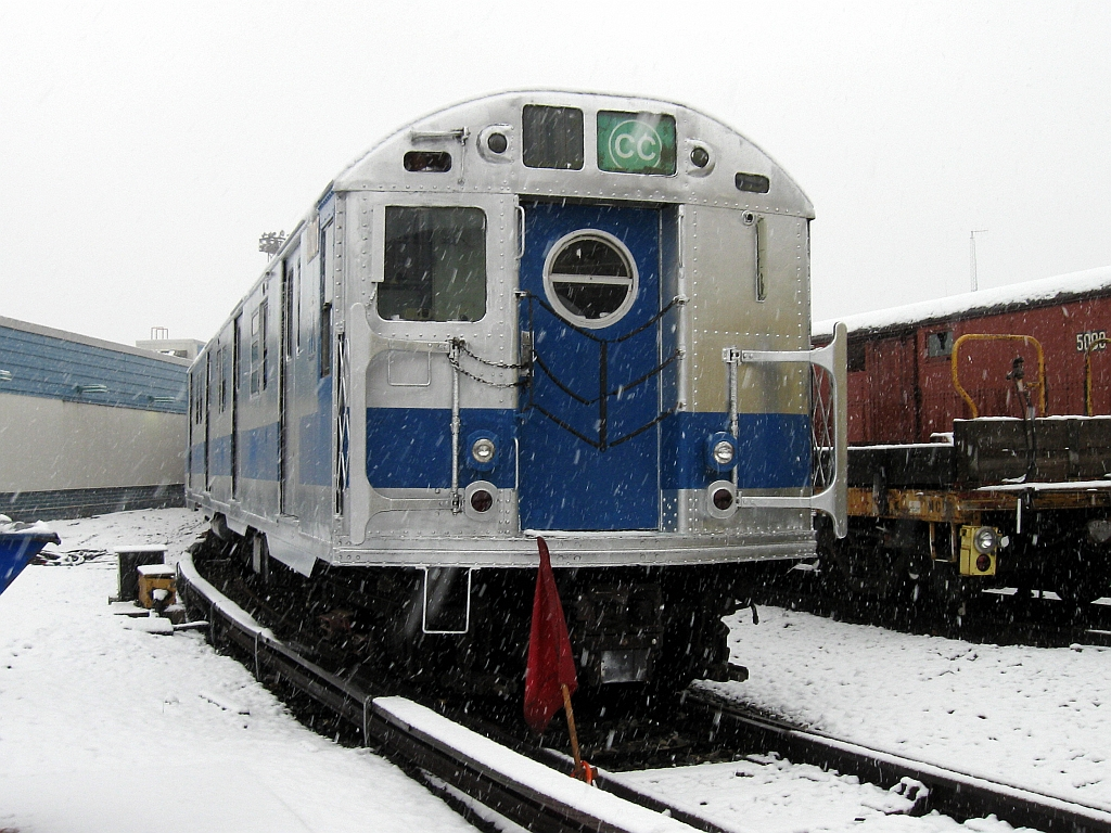 (639k, 1024x768)<br><b>Country:</b> United States<br><b>City:</b> New York<br><b>System:</b> New York City Transit<br><b>Location:</b> Coney Island Yard-Museum Yard<br><b>Car:</b> R-16 (American Car & Foundry, 1955) 6305 <br><b>Photo by:</b> John Barnes<br><b>Date:</b> 12/10/2013<br><b>Viewed (this week/total):</b> 5 / 1914