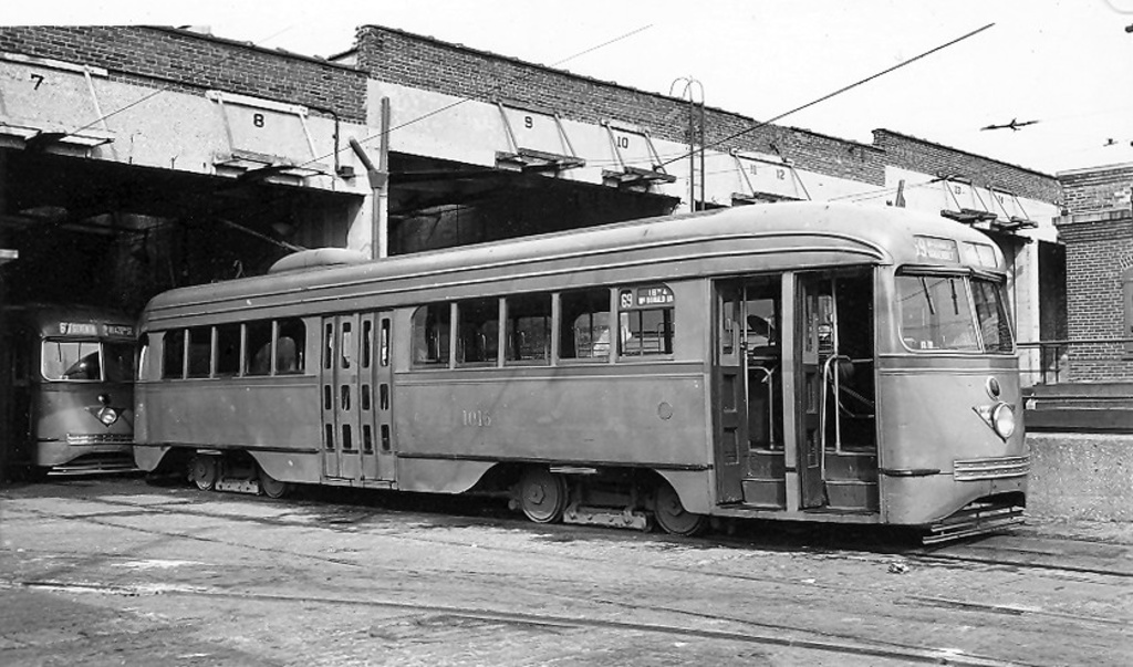 (228k, 1024x603)<br><b>Country:</b> United States<br><b>City:</b> New York<br><b>System:</b> Brooklyn & Queens Transit<br><b>Car:</b> Brooklyn & Queens Transit PCC (St. Louis Car, 1936)  1016 <br><b>Notes:</b> 9 av term lower level<br><b>Viewed (this week/total):</b> 2 / 427