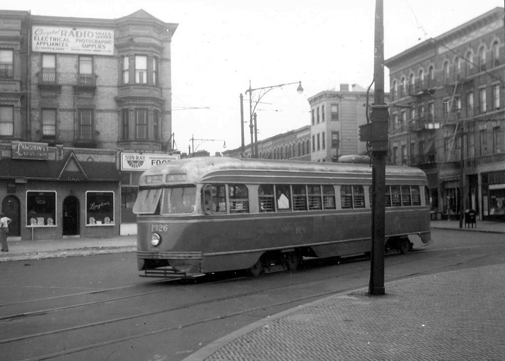 (205k, 1024x733)<br><b>Country:</b> United States<br><b>City:</b> New York<br><b>System:</b> Brooklyn & Queens Transit<br><b>Line:</b> 68/Coney Island Ave. <br><b>Location:</b> Prospect Park SW -- Bartel-Pritchard Square <br><b>Car:</b> Brooklyn & Queens Transit PCC (St. Louis Car, 1936)  1026 <br><b>Viewed (this week/total):</b> 4 / 399
