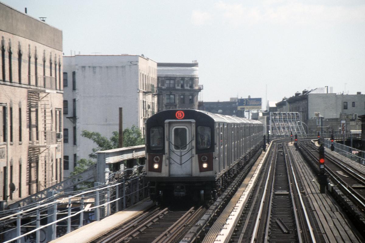 (387k, 1024x682)<br><b>Country:</b> United States<br><b>City:</b> New York<br><b>System:</b> New York City Transit<br><b>Line:</b> IRT White Plains Road Line<br><b>Location:</b> Simpson Street <br><b>Route:</b> 5<br><b>Car:</b> R-142 (Primary Order, Bombardier, 1999-2002)  6691-6695/etc <br><b>Photo by:</b> David Warner<br><b>Collection of:</b> David Pirmann<br><b>Date:</b> 6/13/2006<br><b>Viewed (this week/total):</b> 1 / 1259