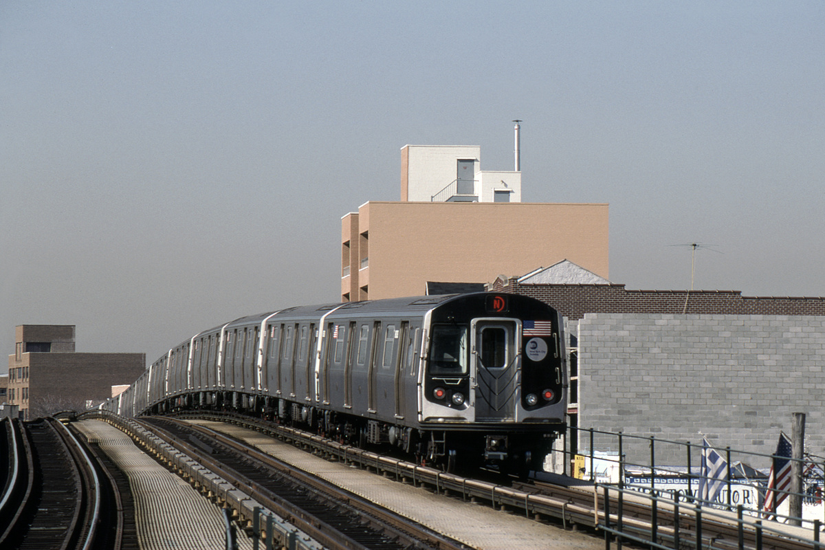 (408k, 1024x683)<br><b>Country:</b> United States<br><b>City:</b> New York<br><b>System:</b> New York City Transit<br><b>Line:</b> BMT Astoria Line<br><b>Location:</b> Astoria Boulevard/Hoyt Avenue <br><b>Route:</b> N<br><b>Car:</b> R-160B (Kawasaki, 2005-2008)  8838-8842/8743-8747 <br><b>Photo by:</b> David Warner<br><b>Collection of:</b> David Pirmann<br><b>Date:</b> 4/18/2008<br><b>Viewed (this week/total):</b> 0 / 822