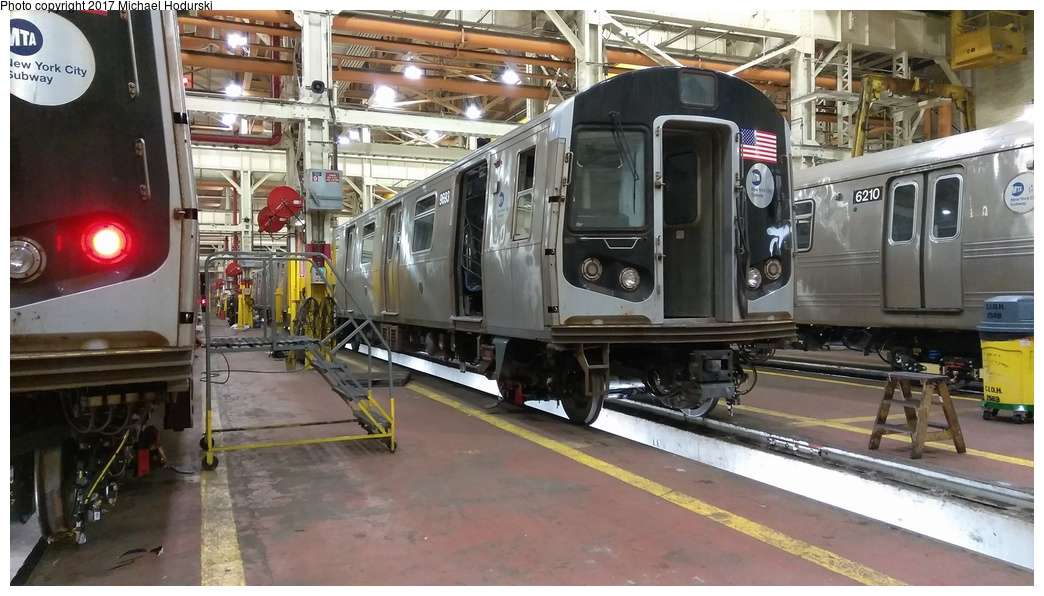 (250k, 1044x596)<br><b>Country:</b> United States<br><b>City:</b> New York<br><b>System:</b> New York City Transit<br><b>Location:</b> Coney Island Shop/Overhaul & Repair Shop<br><b>Car:</b> R-160A (Option 2) (Alstom, 2009, 5-car sets)  9693 <br><b>Photo by:</b> Michael Hodurski<br><b>Date:</b> 5/27/2017<br><b>Viewed (this week/total):</b> 4 / 360
