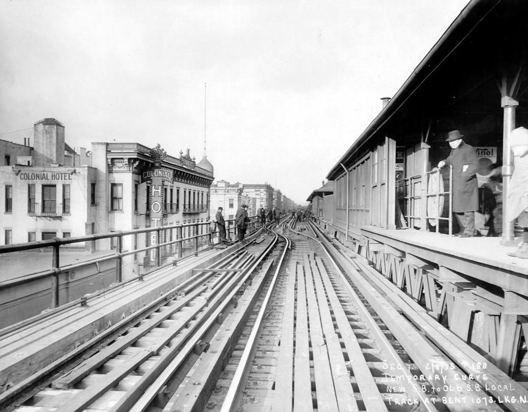(220k, 1032x806)<br><b>Country:</b> United States<br><b>City:</b> New York<br><b>System:</b> New York City Transit<br><b>Line:</b> 9th Avenue El<br><b>Location:</b> 125th Street <br><b>Collection of:</b> Frank Pfuhler<br><b>Date:</b> 2/8/1915<br><b>Viewed (this week/total):</b> 0 / 909
