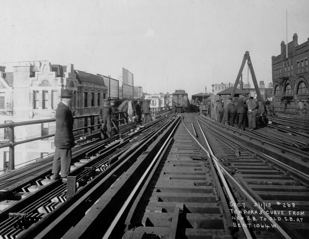 (213k, 1039x804)<br><b>Country:</b> United States<br><b>City:</b> New York<br><b>System:</b> New York City Transit<br><b>Line:</b> 9th Avenue El<br><b>Location:</b> 125th Street <br><b>Collection of:</b> Frank Pfuhler<br><b>Date:</b> 3/1/1915<br><b>Notes:</b> View north<br><b>Viewed (this week/total):</b> 0 / 947