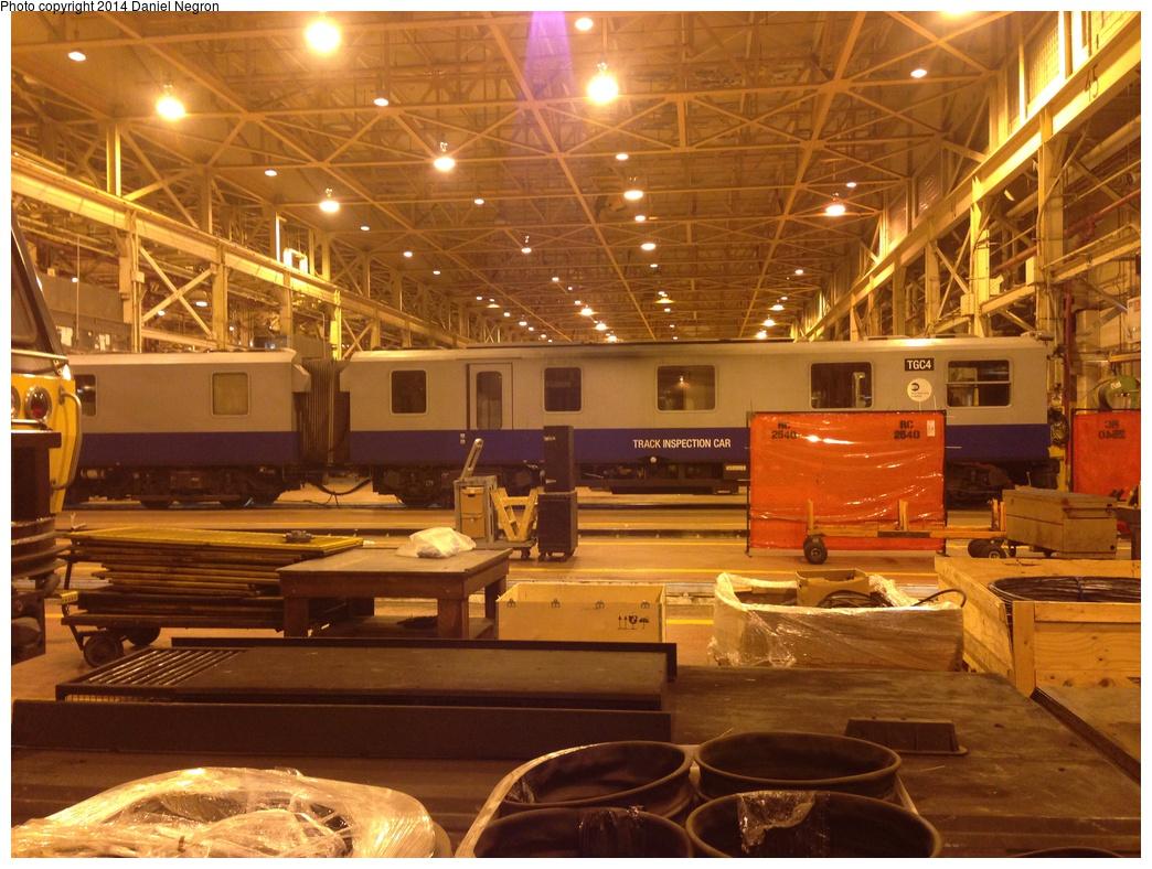(343k, 1044x788)<br><b>Country:</b> United States<br><b>City:</b> New York<br><b>System:</b> New York City Transit<br><b>Location:</b> Coney Island Shop/Overhaul & Repair Shop<br><b>Car:</b> Track Geometry Car TGC4 <br><b>Photo by:</b> Daniel Negron<br><b>Date:</b> 11/12/2013<br><b>Viewed (this week/total):</b> 1 / 757