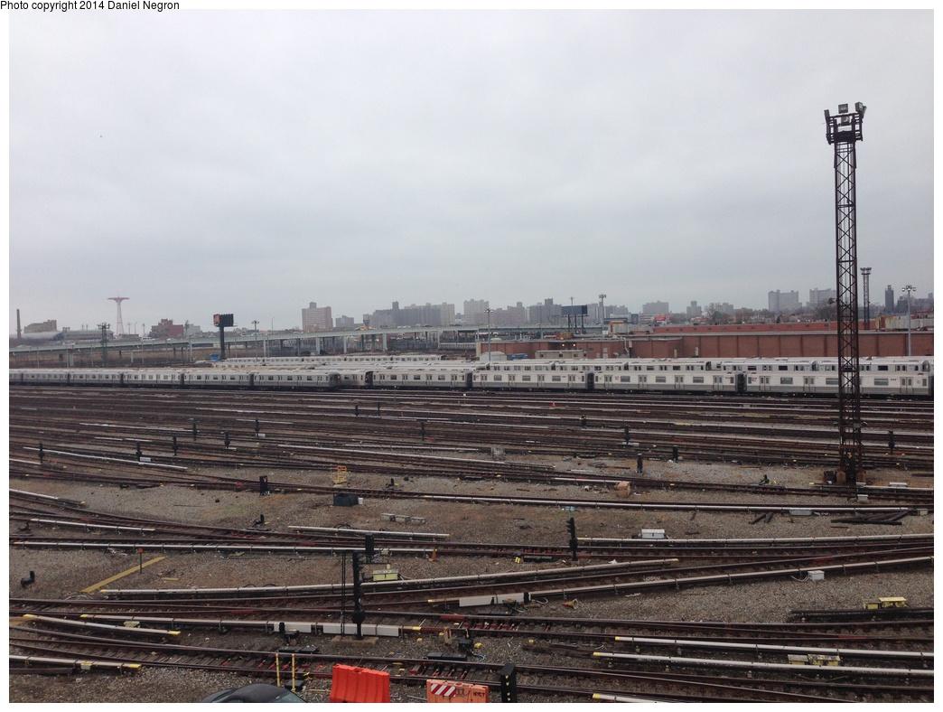 (303k, 1044x788)<br><b>Country:</b> United States<br><b>City:</b> New York<br><b>System:</b> New York City Transit<br><b>Location:</b> Coney Island Yard<br><b>Photo by:</b> Daniel Negron<br><b>Date:</b> 12/5/2013<br><b>Notes:</b> View from Tower B<br><b>Viewed (this week/total):</b> 0 / 773