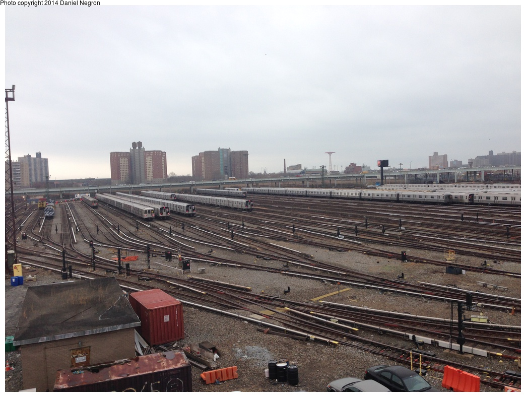 (308k, 1044x788)<br><b>Country:</b> United States<br><b>City:</b> New York<br><b>System:</b> New York City Transit<br><b>Location:</b> Coney Island Yard<br><b>Photo by:</b> Daniel Negron<br><b>Date:</b> 12/5/2013<br><b>Notes:</b> View from Tower B<br><b>Viewed (this week/total):</b> 3 / 722
