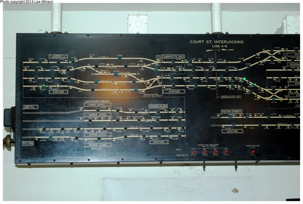 (278k, 1044x703)<br><b>Country:</b> United States<br><b>City:</b> New York<br><b>System:</b> New York City Transit<br><b>Location:</b> New York Transit Museum<br><b>Photo by:</b> Lee Winson<br><b>Date:</b> 4/2/2013<br><b>Notes:</b> Interlocking model board.<br><b>Viewed (this week/total):</b> 0 / 798