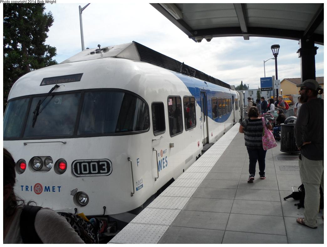 (286k, 1044x788)<br><b>Country:</b> United States<br><b>City:</b> Portland, OR<br><b>System:</b> WES Commuter Rail <br><b>Location:</b> Beaverton TC <br><b>Photo by:</b> Bob Wright<br><b>Date:</b> 8/14/2013<br><b>Viewed (this week/total):</b> 1 / 924