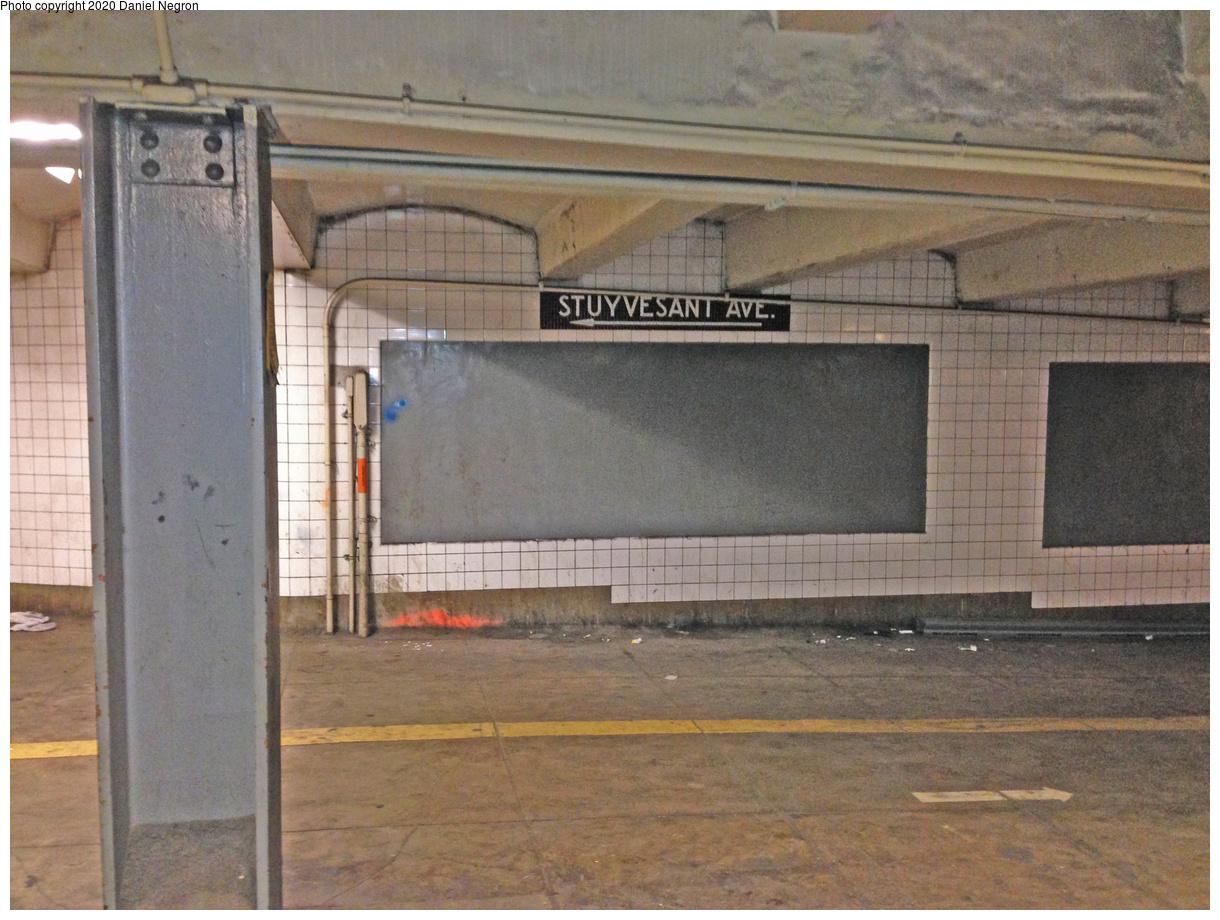 (373k, 1044x788)<br><b>Country:</b> United States<br><b>City:</b> New York<br><b>System:</b> New York City Transit<br><b>Line:</b> IND Fulton Street Line<br><b>Location:</b> Utica Avenue <br><b>Photo by:</b> Daniel Negron<br><b>Date:</b> 1/14/2014<br><b>Notes:</b> Utica Avenue - unused mezzanine areas for 2nd System transfer<br><b>Viewed (this week/total):</b> 1 / 1638