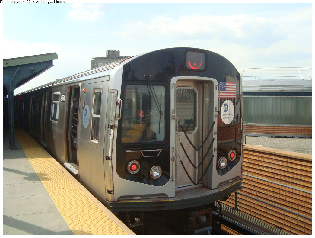 (319k, 1044x788)<br><b>Country:</b> United States<br><b>City:</b> New York<br><b>System:</b> New York City Transit<br><b>Line:</b> BMT Myrtle Avenue Line<br><b>Location:</b> Wyckoff Avenue <br><b>Route:</b> J reroute<br><b>Car:</b> R-160A (Option 2) (Alstom, 2009, 4-car sets)  9954 <br><b>Photo by:</b> Anthony J. Liccese<br><b>Date:</b> 8/17/2013<br><b>Viewed (this week/total):</b> 0 / 1167