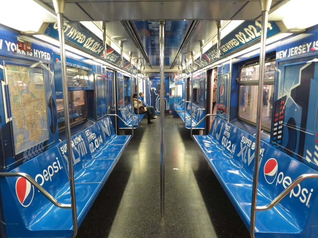 (162k, 1024x768)<br><b>Country:</b> United States<br><b>City:</b> New York<br><b>System:</b> New York City Transit<br><b>Route:</b> S<br><b>Car:</b> R-62A (Bombardier, 1984-1987)  1956 <br><b>Photo by:</b> Robbie Rosenfeld<br><b>Date:</b> 1/19/2014<br><b>Notes:</b> Pepsi wrap<br><b>Viewed (this week/total):</b> 0 / 755